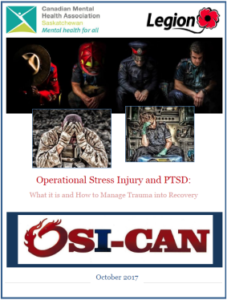 Cover of a manual on operational stress injuries and PTSD.