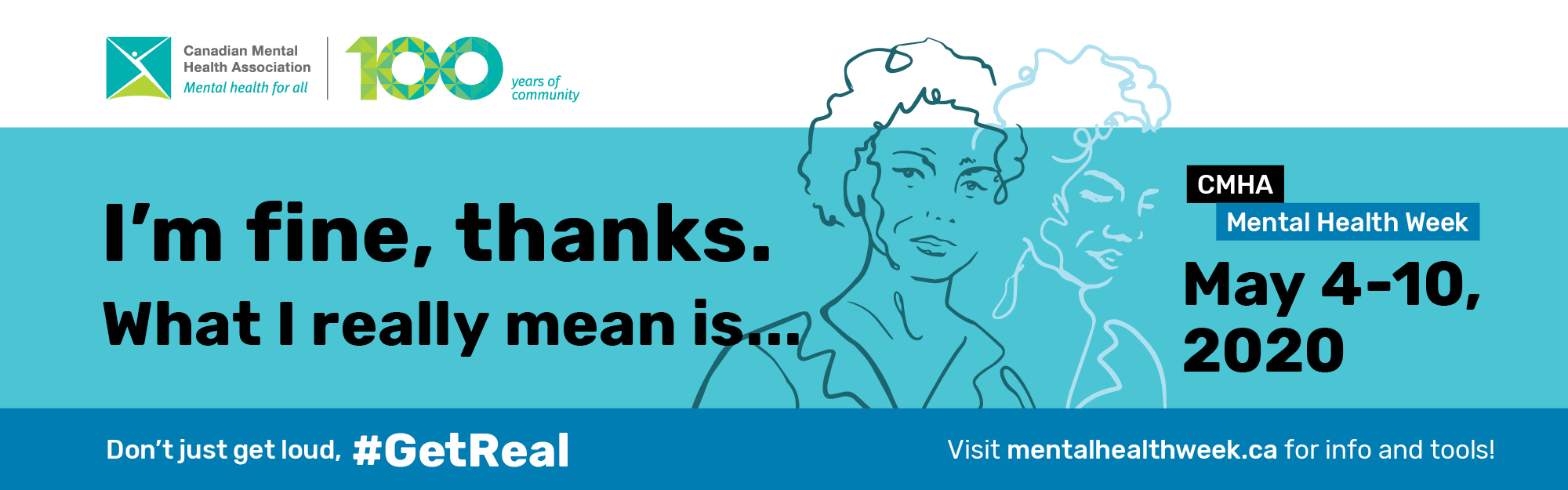 Mental health week promo banner